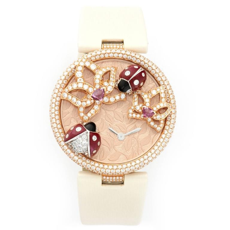 Cartier  Le Cirque Animalier Coccinelles in Rose Gold with Diamond Case  Limited Edition
