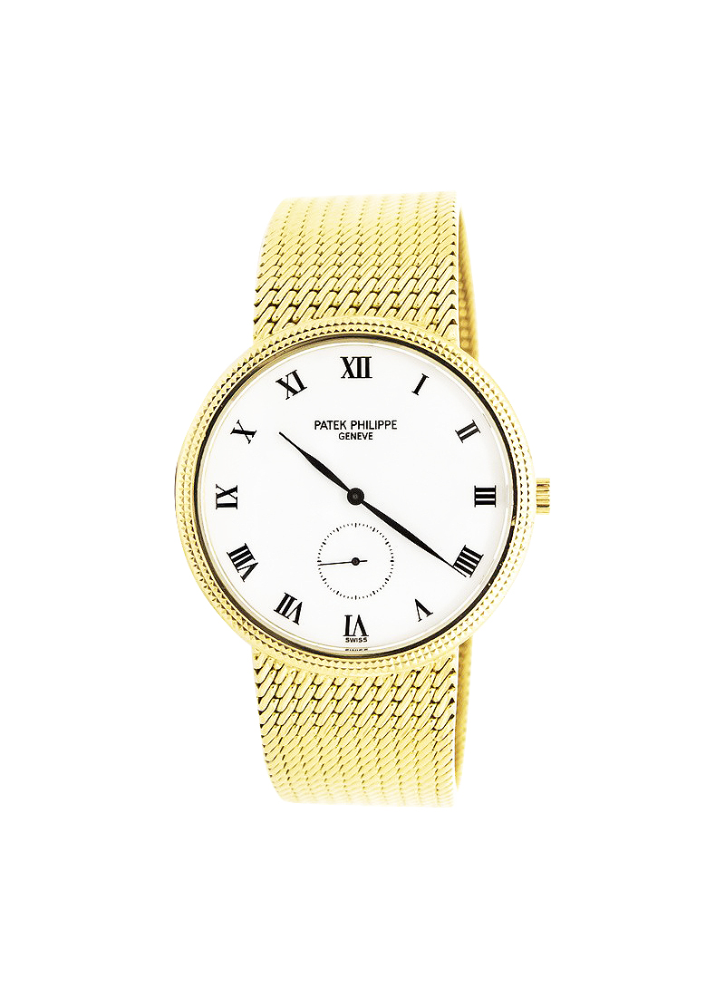 Patek Philippe Vintage Calatrava Manual in Yellow Gold