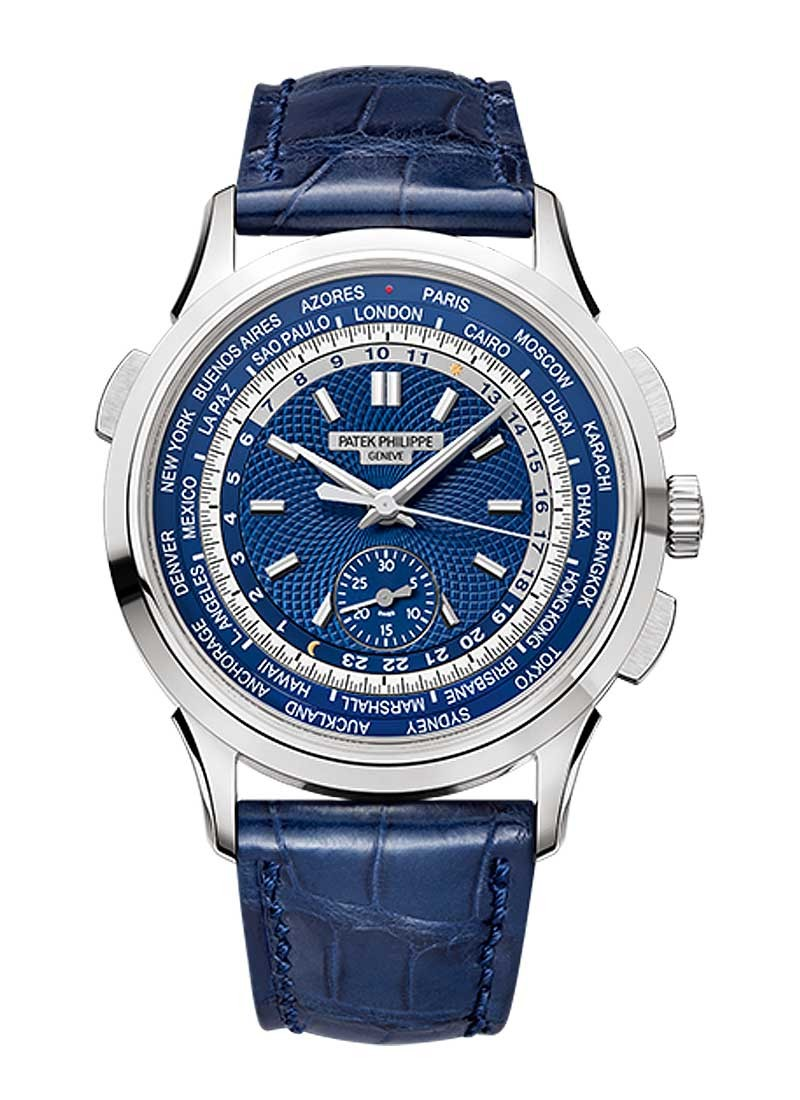 Patek Philippe World Time Chronograph 5930 in White Gold