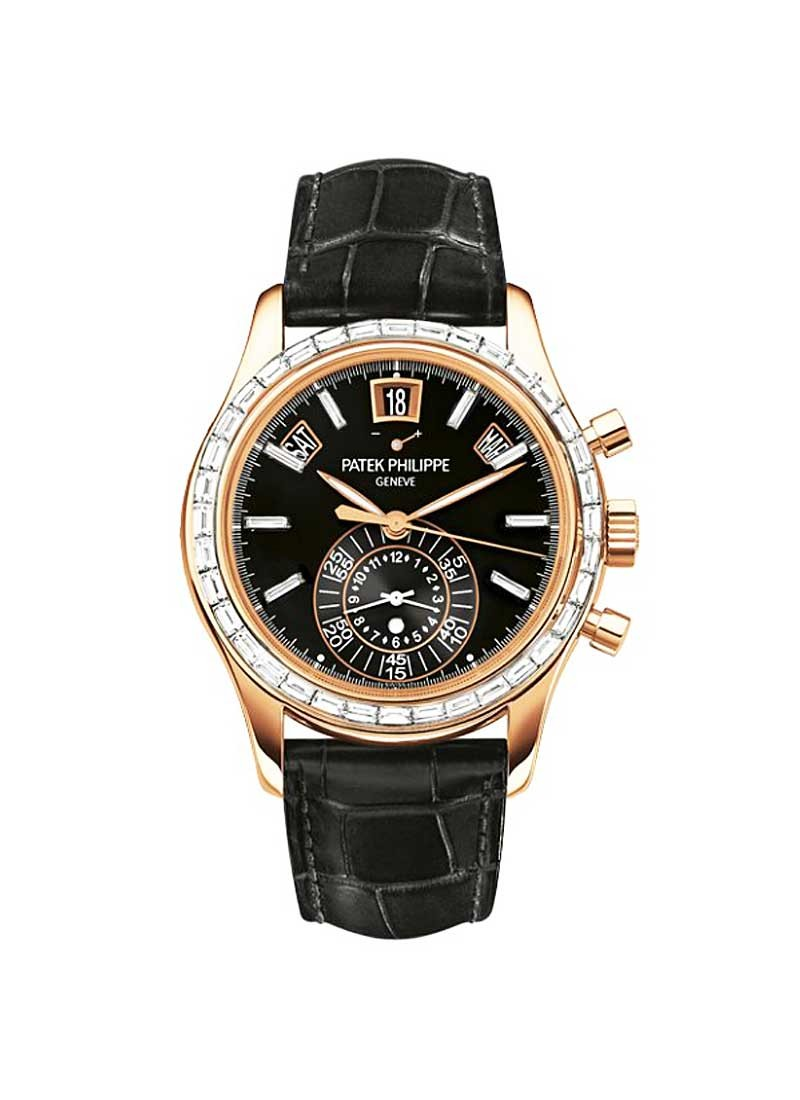 Patek Philippe Annual Calendar Ref 5961R-010 in Rose Gold with Diamond Bezel