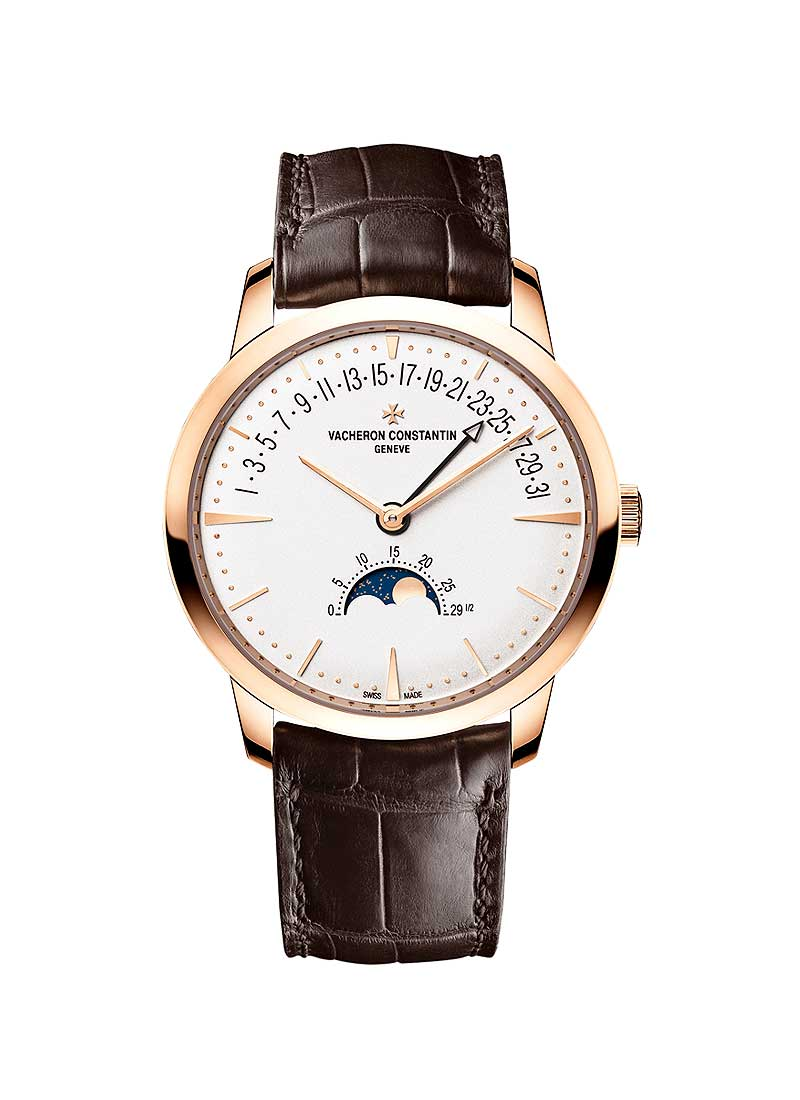 Vacheron Constantin Patrimony Moonphase and Retrograde Date Mens 42.5mm Automatic in Rose Gold