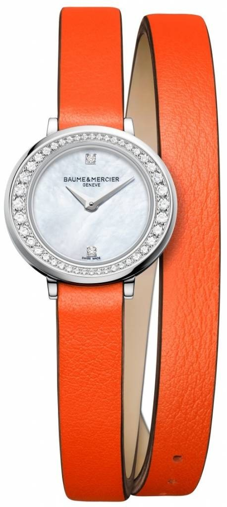Baume & Mercier Promesse Core 22mm in Steel and Diamonds