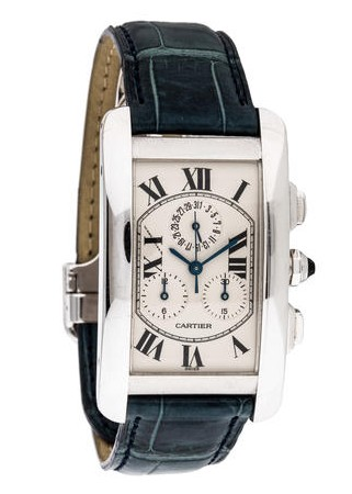 Cartier Tank Americaine  XL Chronoflex in White Gold