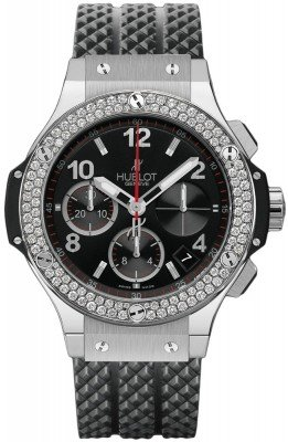 Hublot Big Bang Steel Midsize 41mm Automatic in Stainless Steel with Diamond bezel