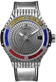 Hublot Big Bang Steel Caviar Yellow Red Blue Sapphires