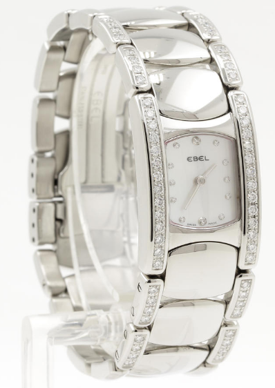 Ebel Beluga Manchette in Stainless Steel with Diamond