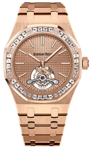 Audemars Piguet Royal Oak Tourbillon Extra  Thin in Pink Gold with Diamond Bezel