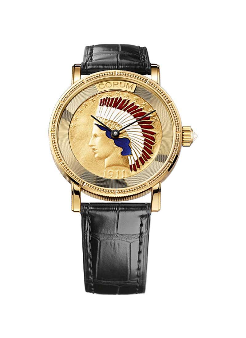Corum Corum Heritage Coin Indian Head in Yellow Gold
