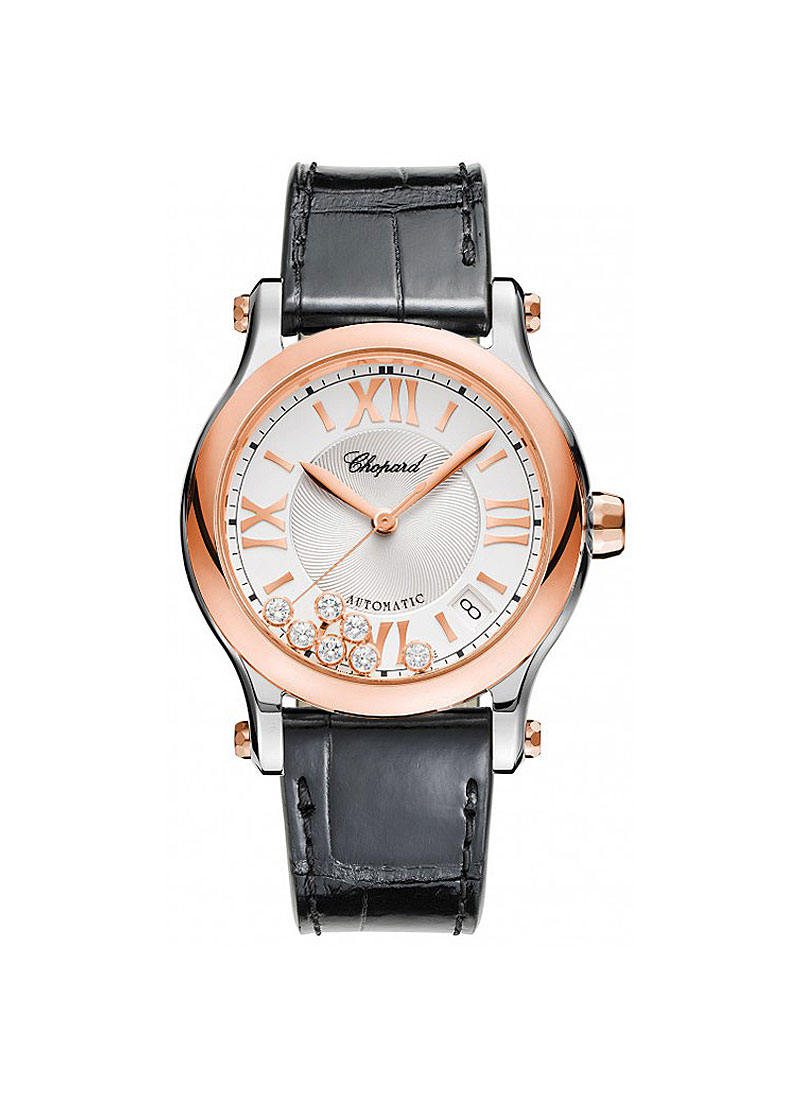 Chopard Happy Sport Round Automatic in Steel and Rose Gold