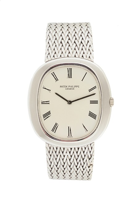 Patek Philippe Calatrava Oval 38mm ref 35891 in White Gold