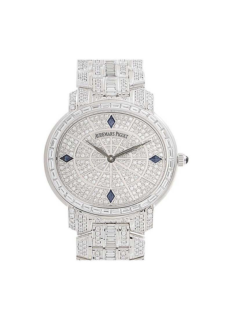 Audemars Piguet Millenary Gem Set In White Gold with Diamond Bezel