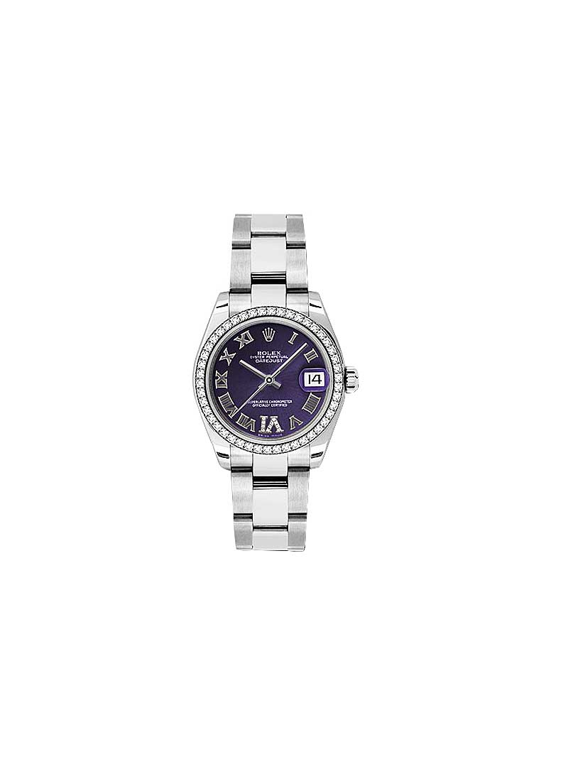 Rolex Unworn Datejust 31mm in Steel with Diamond Bezel