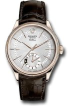 Rolex Unworn Cellini Dual 39mm in Rose Gold with Domed and Fluted Double Bezel