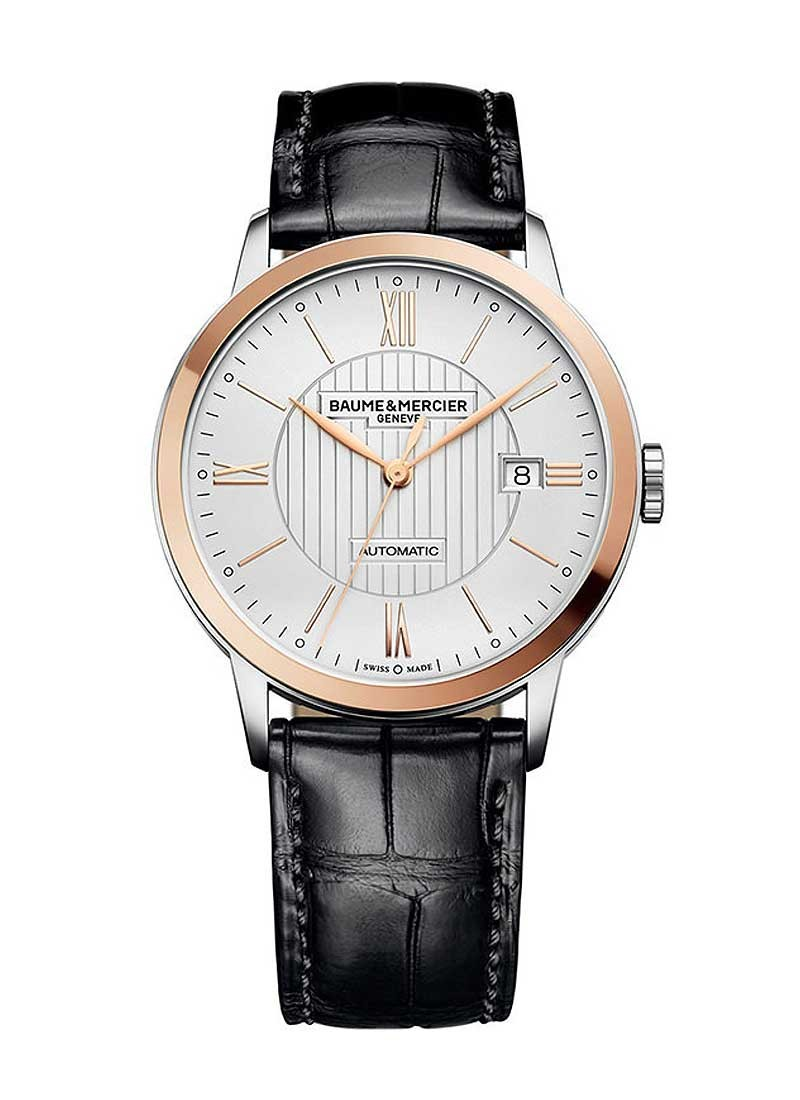 Baume & Mercier Classima 40mm in Steel with Rose Gold Bezel