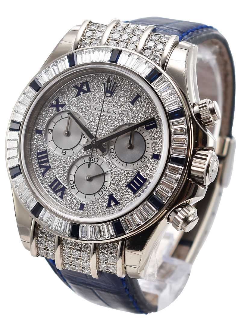 Rolex Used Daytona Cosmograph in White Gold with Diamonds Bezel