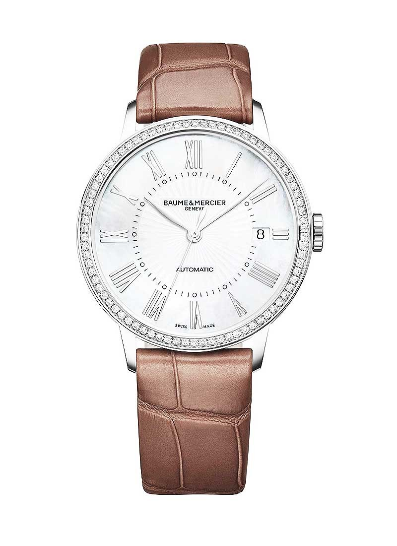 Baume & Mercier Classima 36mm in Steel with Diamond Bezel