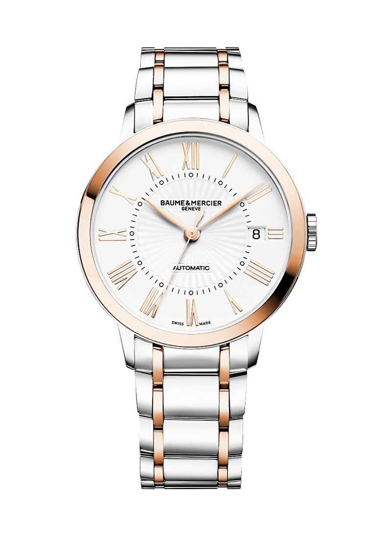 Baume & Mercier Classima 2 Tone in Steel with Rose Gold Bezel