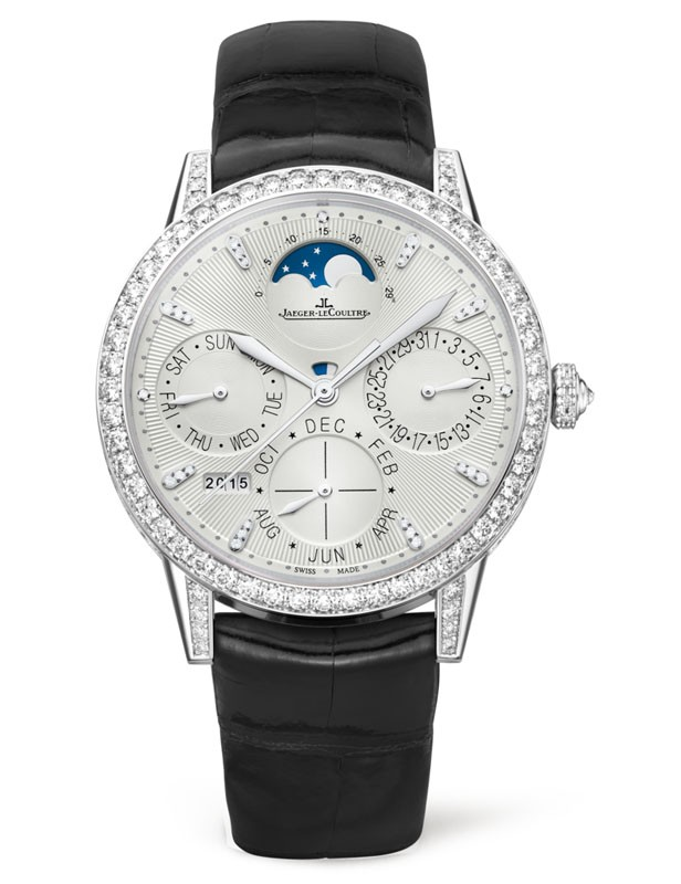 Jaeger - LeCoultre Rendez-Vous Perpetual Calendar in White Gold with Diamond Bezel