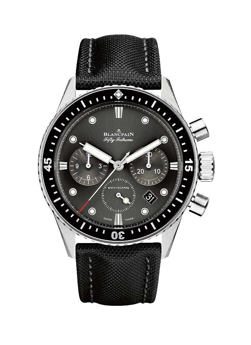 Blancpain Fifty Fathoms Bathyscaphe Flyback Chronograph in Stainless Steel