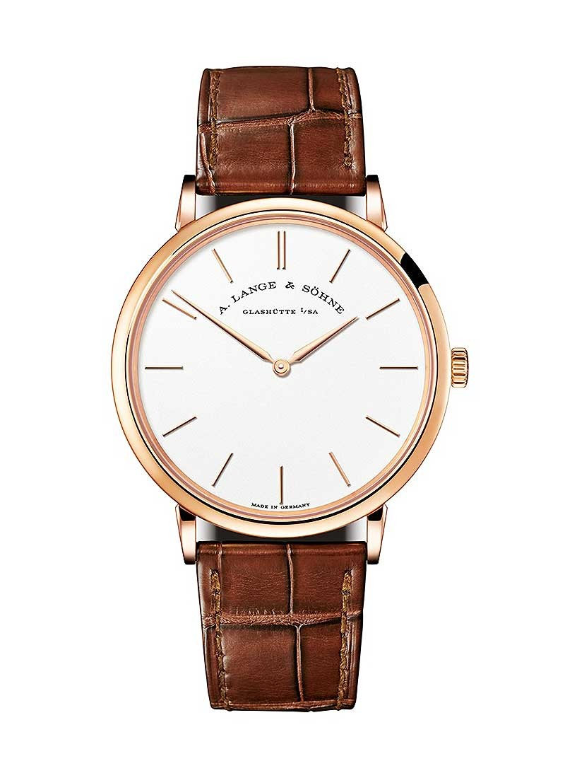 A. Lange & Sohne Saxonia Thin 37mm in Rose Gold