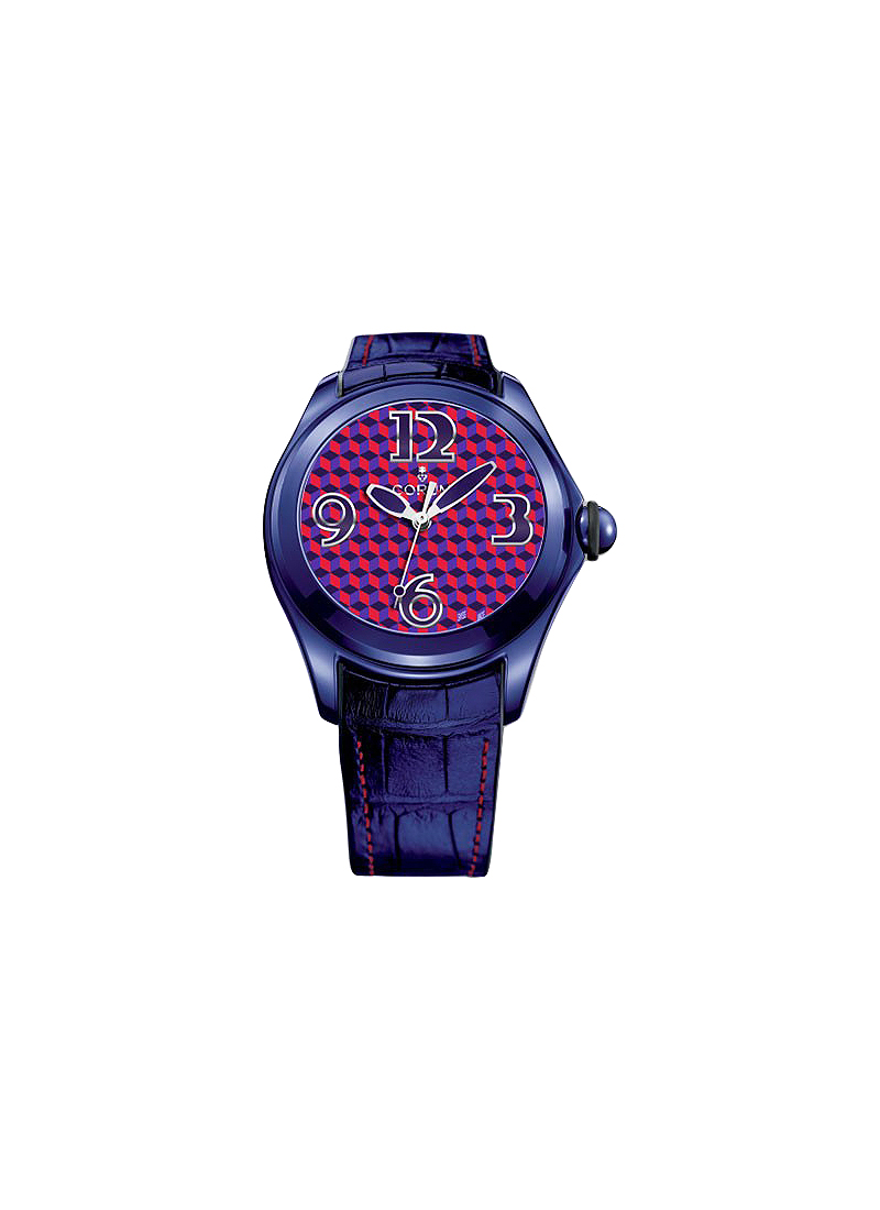 Corum Bubble Purple and Red Optical Art in Purple PVD and Steel
