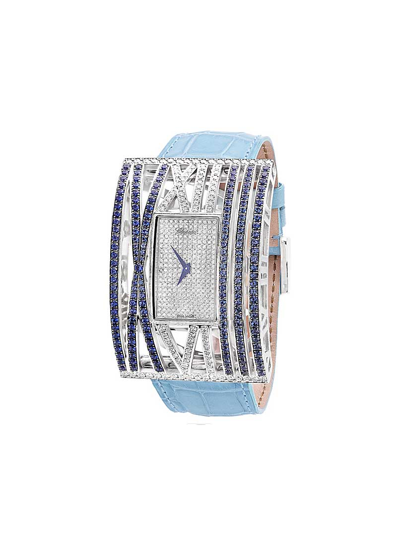 Chopard Montres Dame XL in White Gold with Diamonds