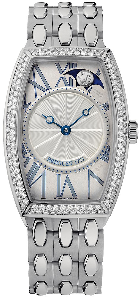 Breguet Heritage Phases de Lune in White Gold with Diamond Bezel