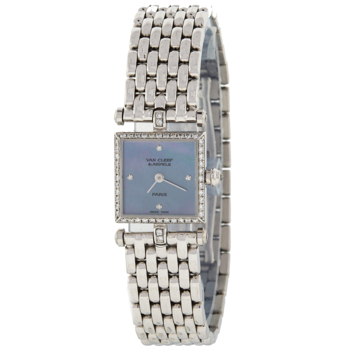 Van Cleef Arpels 322942  36mm in White Gold with Diamond Bezels