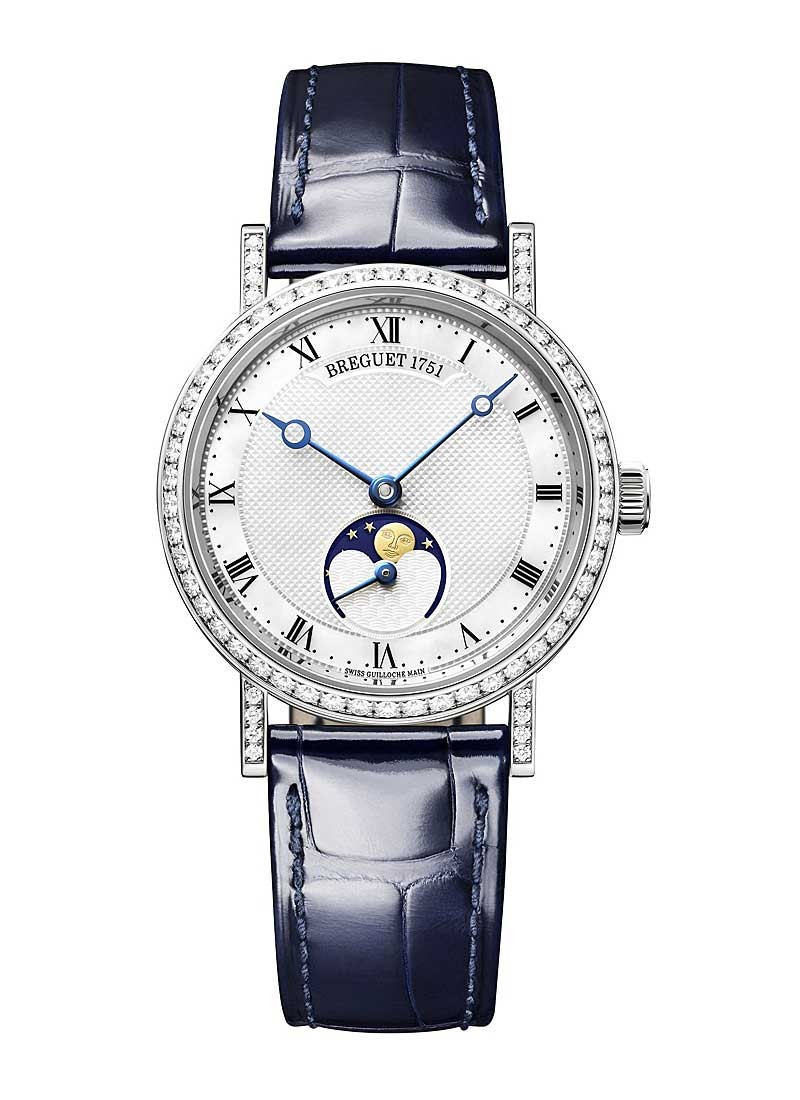 Breguet Classique Moonphase in White Gold with Diamond Bezel