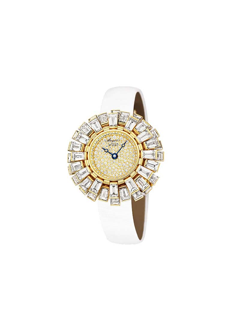 Breguet High Jewellery Collection in White Gold with Baguette Diamond Bezel