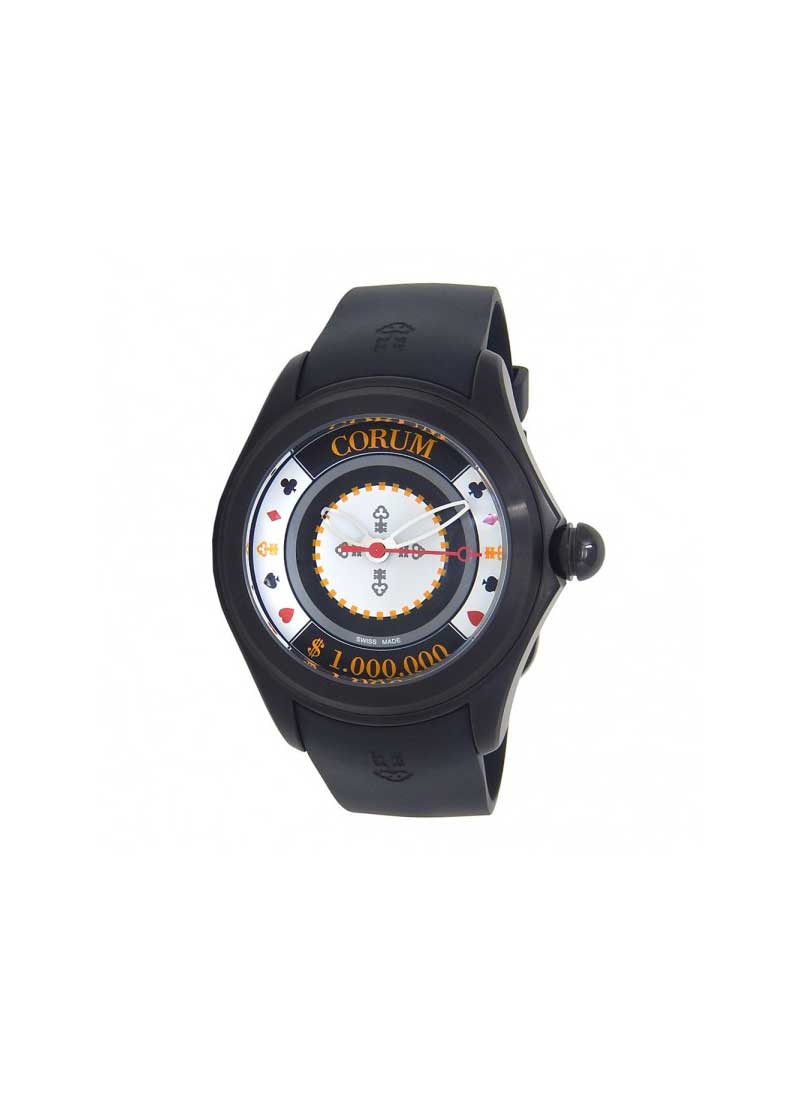Corum Bubble Game Casino Chip in Black PVD Stainless Steel