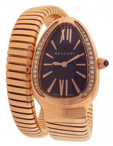 Bvlgari Serpenti 23mm in Rose Gold with Diamond Bezel