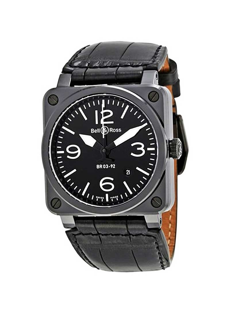 Bell & Ross Aviation BR03-92 in Black Ceramic