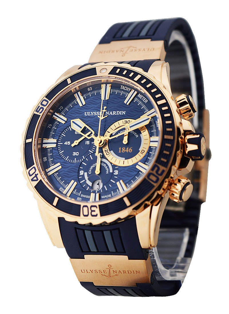 Ulysse Nardin Marine Diver Chronograph 44mm in Rose Gold