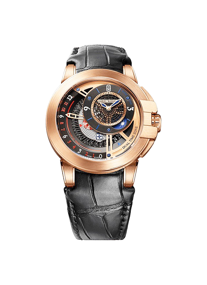 Harry Winston Ocean Dual Time 44mm Automatic in Rose Gold