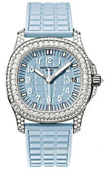 Patek Philippe Lady's Aquanaut Luce Automatic in White Gold with Diamonds