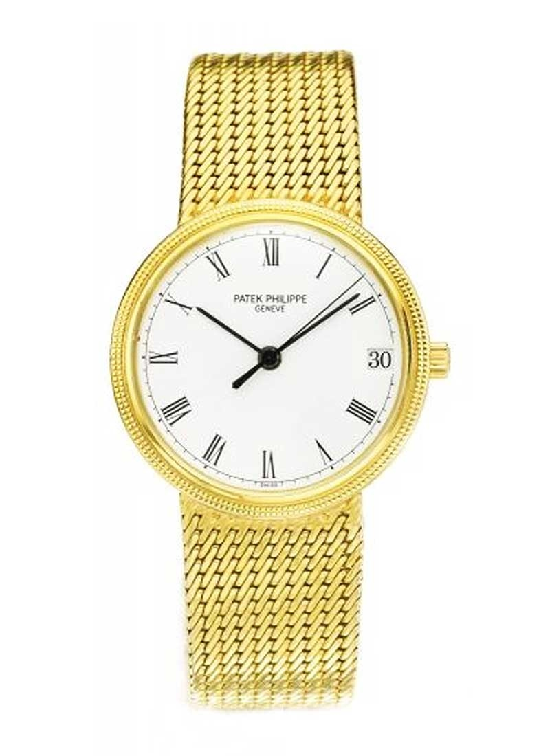 Patek Philippe Calatrava 33mm Automatic in Yellow Gold