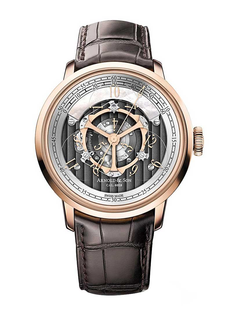 Arnold and Son Golden Wheel 44mm Automatic in Rose Gold