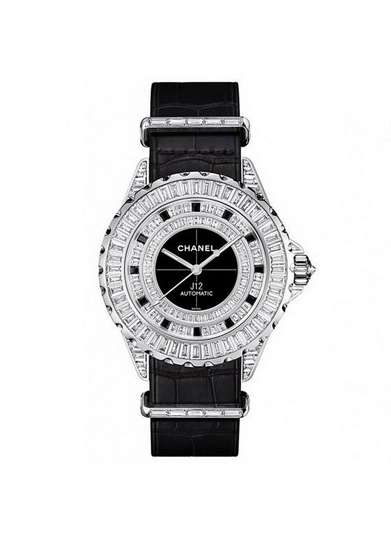 Chanel J12 G10 Jewelry 33mm Automatic in White Gold with Diamonds Bezel