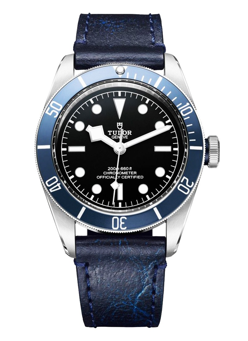 Tudor Heritage Black Bay in Steel with Matte Blue Bezel