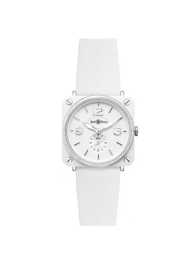 Bell & Ross BR-S Quartz in White Ceramic with Diamond Bezel