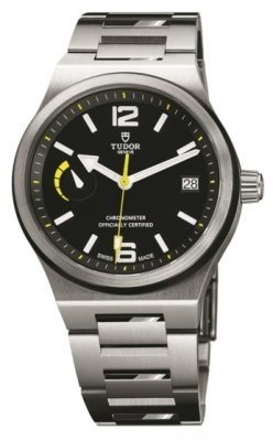 Tudor North Flag Watch in Steel with Steel and Ceramic Bezel