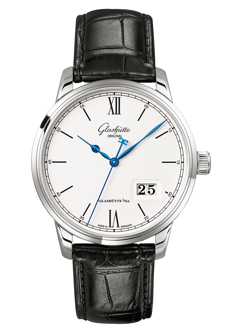 Glashutte Senator Panorama Date 40mm in Steel