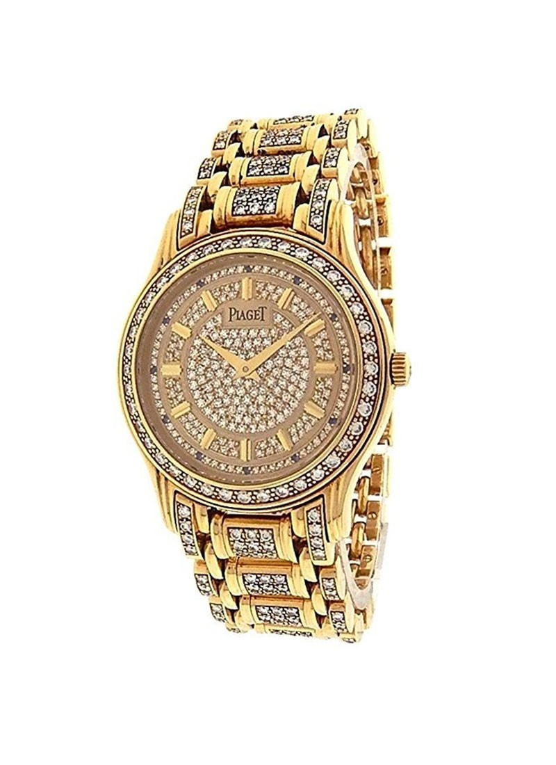 Piaget Polo 33mm in Yellow Gold with Diamond Bezel