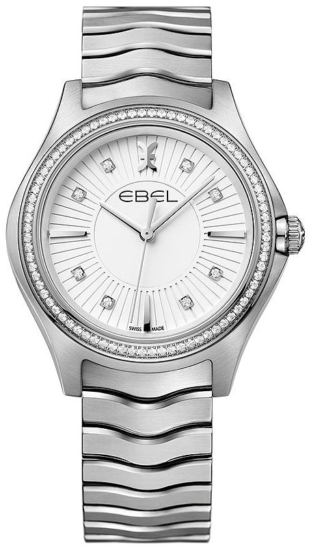 Ebel Classic Wave in Steel with Diamond Bezel