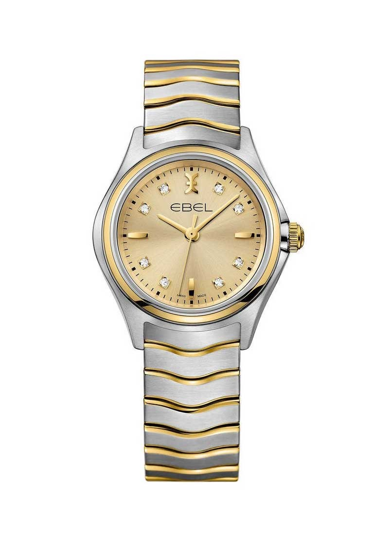 Ebel Classic Wave in Steel with Yellow Gold Bezel