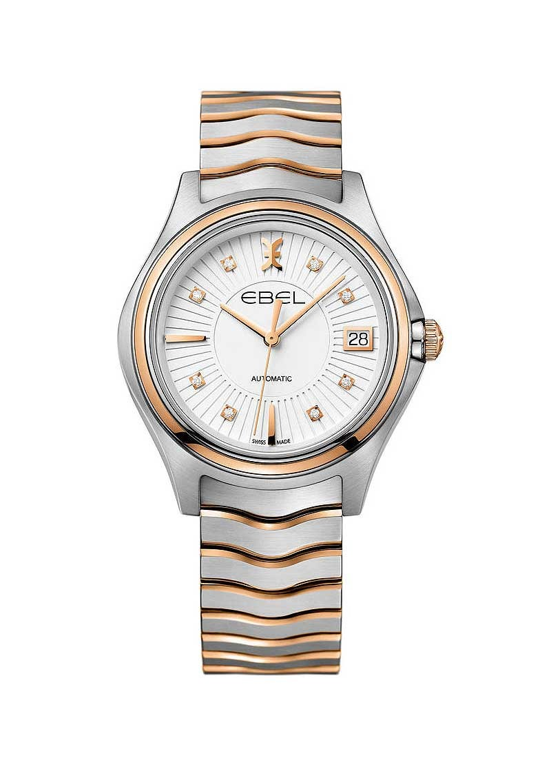 Ebel Wave in Steel with Rose Gold Bezel