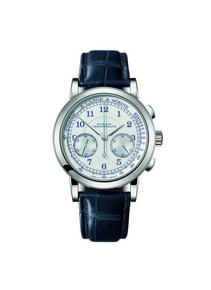 A. Lange & Sohne 1815 Chronograph Boutique Edition Pulsometer in White Gold