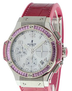 Hublot Big Bang Tutti Frutti 41mm in Steel with Pink Sapphires Bezel