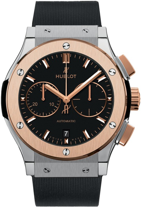 Hublot Classic Fusion Chronograph 45mm in Titanium and Rose Gold Bezel